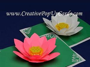 Amazing Mother's Day Lotus Flower Pop Up Card - YouTube