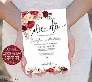 burgundy flowers watercolor floral we do wedding With maroon watercolor wedding invitations
