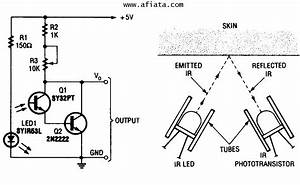 gt circuits gt infrared motion detector schema diagram With ir sensor diagram