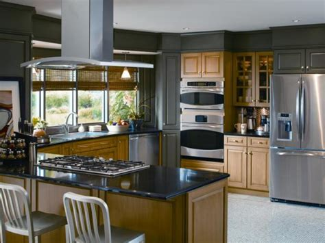 open concept gray kitchen hgtv