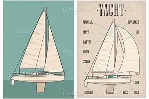 Name Type Sail Yacht Illustrations Creative Market