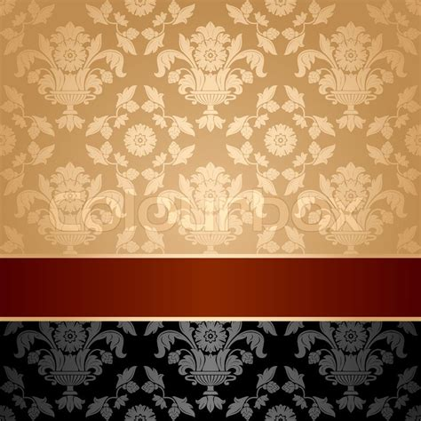 curtains green seamless pattern floral decorative background maroon