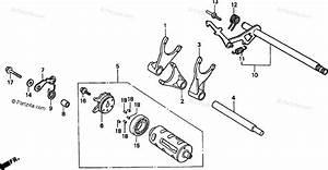 Honda Motorcycle 1998 Oem Parts Diagram For Gearshift Drum