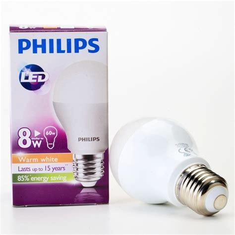 philips e27 led bulb warm white 8w
