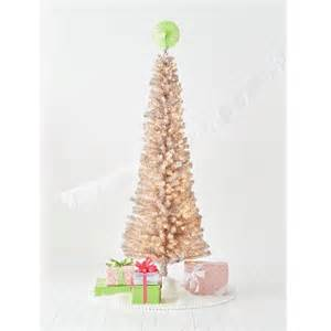 Walmart Christmas Trees Pre Lit by 6ft Pre Lit Artificial Christmas Tree Slim Rose Gold
