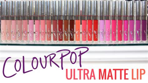colourpop ultra glossy lipstick colourpop ultra matte lip swatches