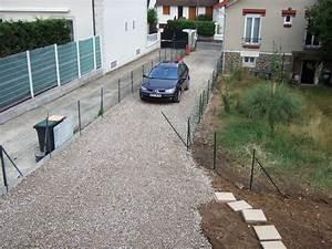 une allee nette notre pavillon a gagny With allee de jardin en galet 17 terrasse gravier lave
