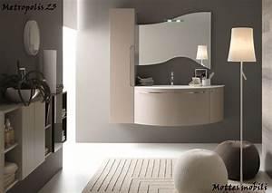 Mobile Da Bagno Moderno Sospeso Con Lavabo Ad Incasso In