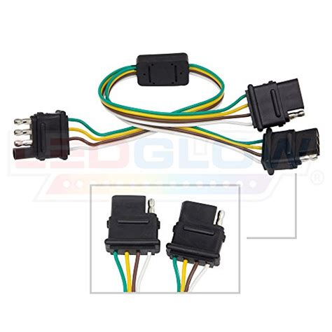 Led Glow Flat Pin Adapter Trailer Harness Tailgate Light