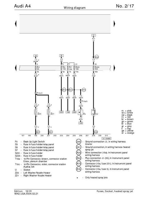 the audi a4 complete wiring diagrams schematic wiring diagrams solutions