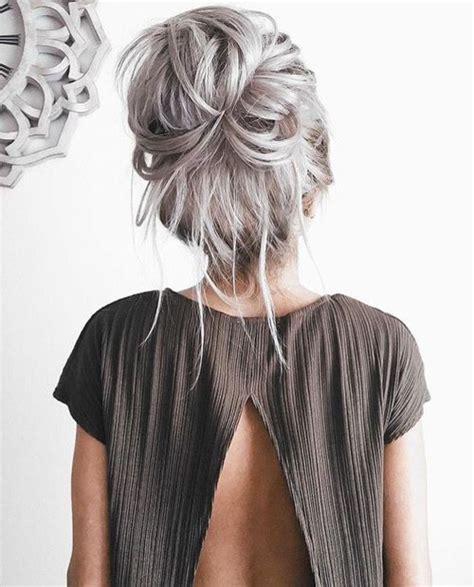 long gray hair ideas  pinterest gray hair