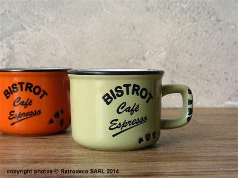 torchons et serviettes cuisine tasse expresso bistrot café verte déco vintage antic
