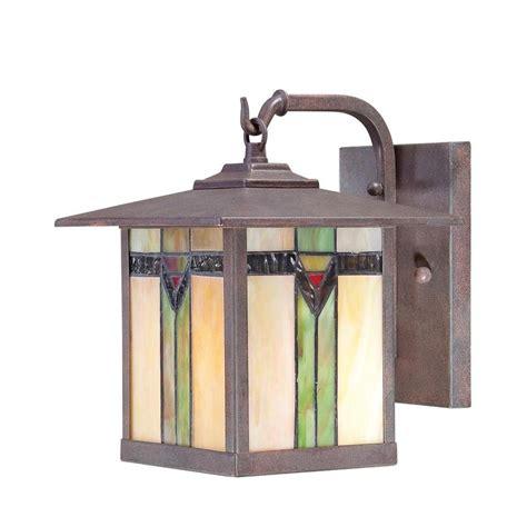 shop allen roth vistora 9 in h bronze outdoor wall light at lowes com