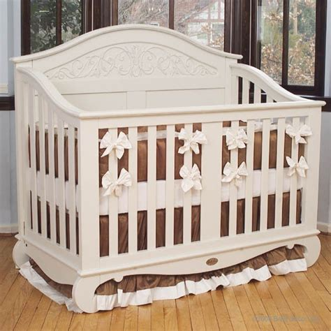 Bratt Decor Crib Satin White by Chelsea Lifetime Crib In White By Bratt Decor