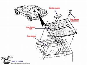 1987 Corvette Rear Speakers Parts