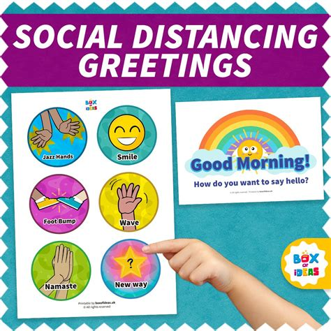Social Distancing Greeting Choices For Kids Box of
