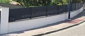 Cloture Sur Muret : brise vue aluminium au prix d 39 une cloture pvc ou cloture ~ Carolinahurricanesstore.com Idées de Décoration