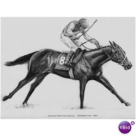 e bid artist 10x8 pencil drawing racing brave on