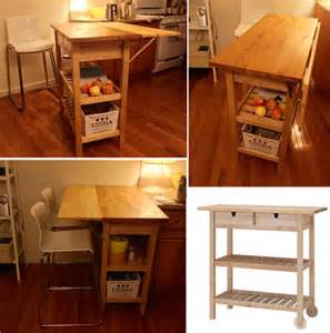 kitchen island rolling cart 10 best ikea hacks for a small apartment kitchen jewelpie