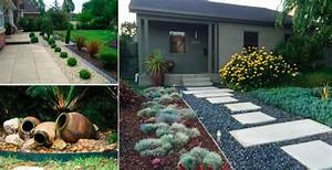 15 idees de portes d39entree aux couleurs des 4 saisons With idee allee de maison 14 idee de massif de jardin obasinc