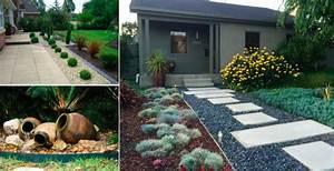modeles de jardin elegant modeles jardins avec galets With modeles de rocailles jardin 2 crassula planter et entretenir ooreka