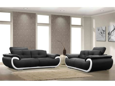 canapes et fauteuils canapé et fauteuil en cuir 4 coloris bicolores smiley