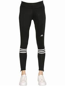 Adidas Running Double Knit Leggings in Black | Lyst