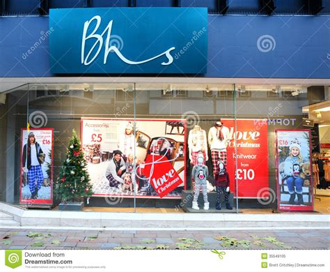 Bhs British Home Stores Store Front Editorial Image