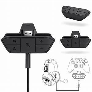 Stereo Headset Headphone Audio Game Adapter For Microsoft