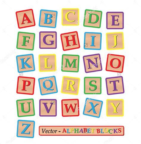 alphabet letter squares template  psd eps