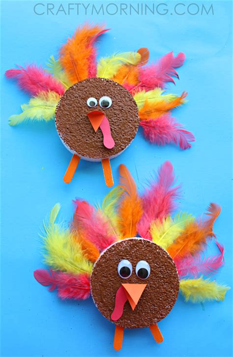 thanksgiving crafts for toddlers foam disc turkeys thanksgiving craft crafty morning 5563