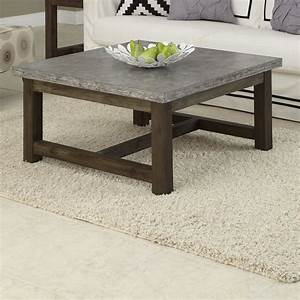 Concrete coffee tables you can buy or build yourself for Concrete coffee table and end tables
