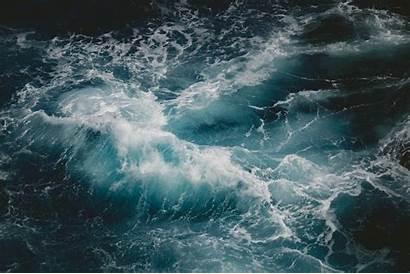 Ocean Sea Waves Wave Water Rough Close