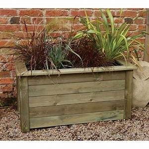 Forest garden planter kit 2 sizes large compost capacity for Wooden garden planters