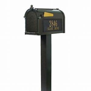 Personalized, Curbside, Mailbox, With, Post, And, Your, Address, On, Both, Sides