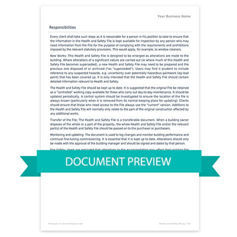 cdm health  safety file template darley pcm