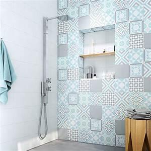 stunning salle de bain blanche et bleu ideas lalawgroup With salle de bain gris bleu