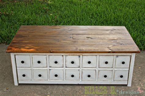 apothecary coffee table  toybox trundle ana white