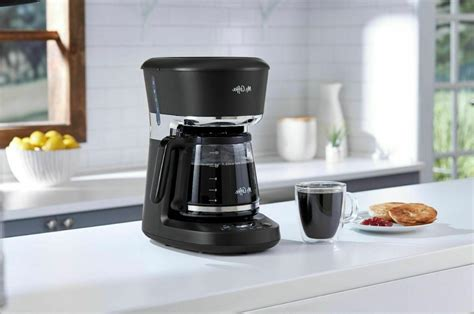 The modern design of this mr. Mr. Coffee - 12-Cup Programmable Coffee Maker