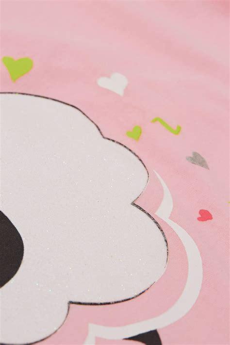 "Ensemble Pyjama Rose & Slogan ""sheeping Beauty"", Taille 44"