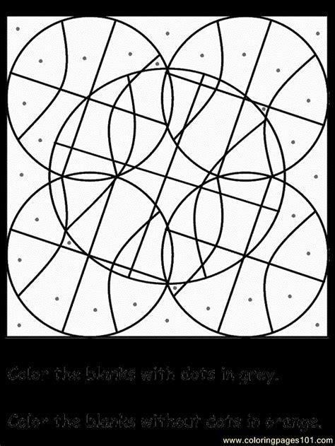 dot puzzles coloring page  dot puzzles coloring