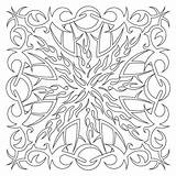 Coloring Tribal Patterns Quilt Block sketch template