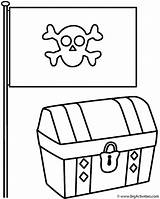 Treasure Pirate Chest Coloring Flag Pages Pirates Clipart Clip Cincinnati Reds Outline Flags Template Printable Ryans Activity Library Cliparts Bigactivities sketch template