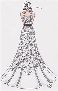 Mild Obsessions: wedding dress drawing