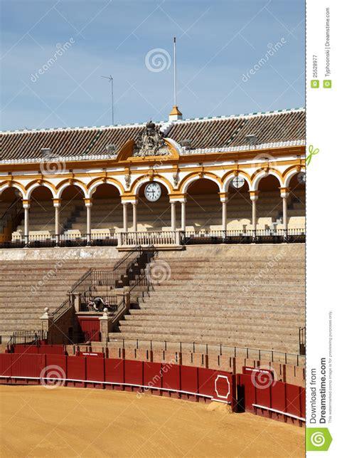 design on stock villa arena arena in sevilla spanje royalty vrije stock fotografie
