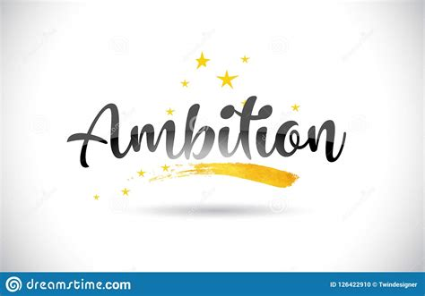 Ambition Word Vector Text With Golden Stars Trail And ...