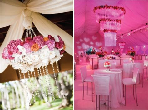 Pink Hanging Decorations - picture of pink and purple hanging wedding decor ideas
