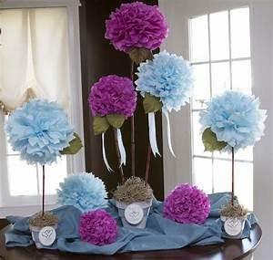 diy tissue paper flowers wedding pinterest pompons With chambre bébé design avec bouquet de fleurs en soie