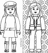 Doll Coloring American Pages Printable Colouring Grace Isabelle Julie Kit Print Getcolorings Ing Getdrawings Wondrous Improved Colorings sketch template