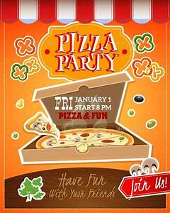 6 pizza party flyers design templates free premium With pizza party flyer template free
